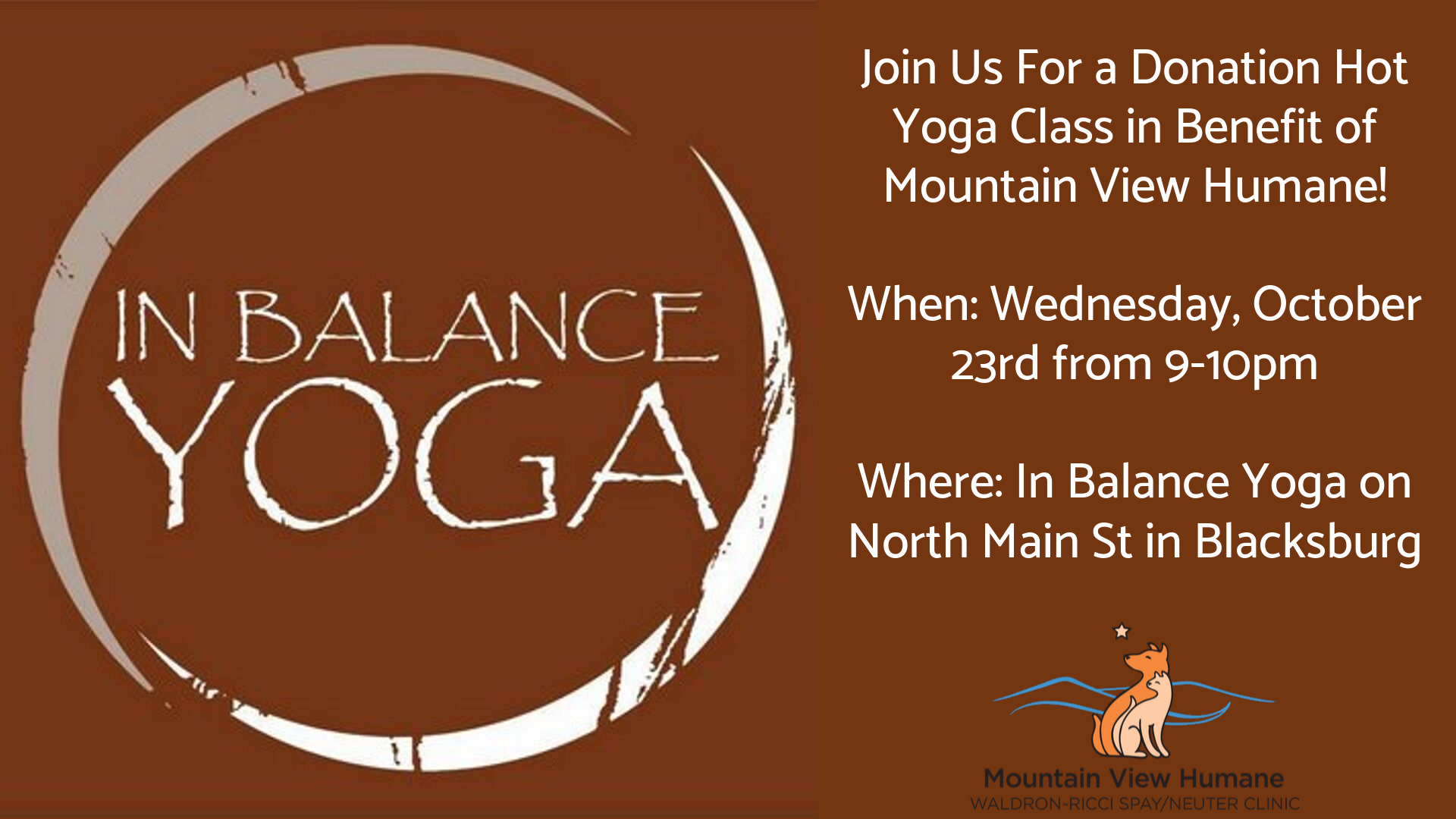 Join Us For A Donation Based Yoga Class 1 Mountain View Humane